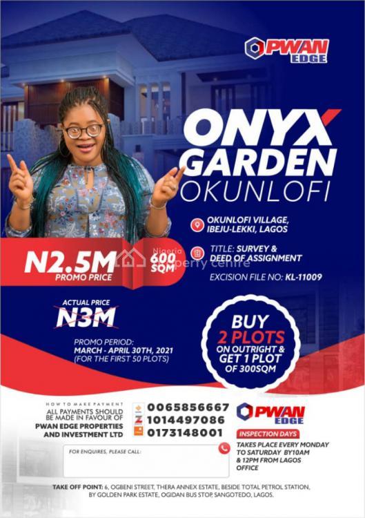 Plots of Land in New and Cool Environment, Okunlofi Village, Ibeju Lekki, Lagos, Mixed-use Land for Sale
