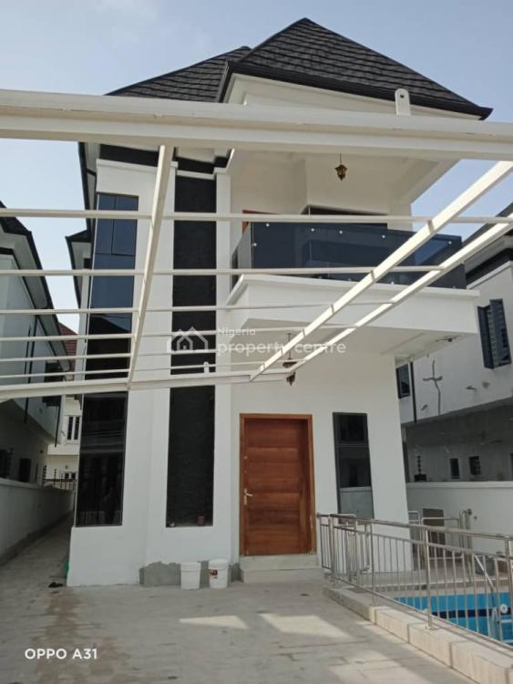 Newly Built 5 Bedrooms Fully Detached House with Swimming Pool, Bq & Laundry, Chevron, Lekki, Lagos, Detached Duplex for Sale