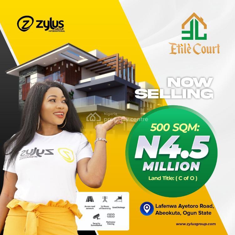 Residential Estate Land, Etile Court, Lafenwa, Abeokuta North, Ogun, Residential Land for Sale