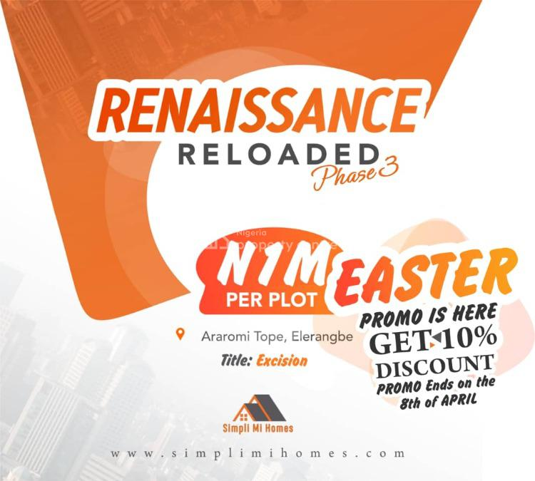 10% Off Dry Land with Excision Available, Elerangbe, Ibeju Lekki, Lagos, Mixed-use Land for Sale