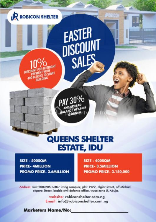 Global R of O, Queens Shelter Estate, By The Train Station, Idu Industrial, Abuja, Residential Land for Sale