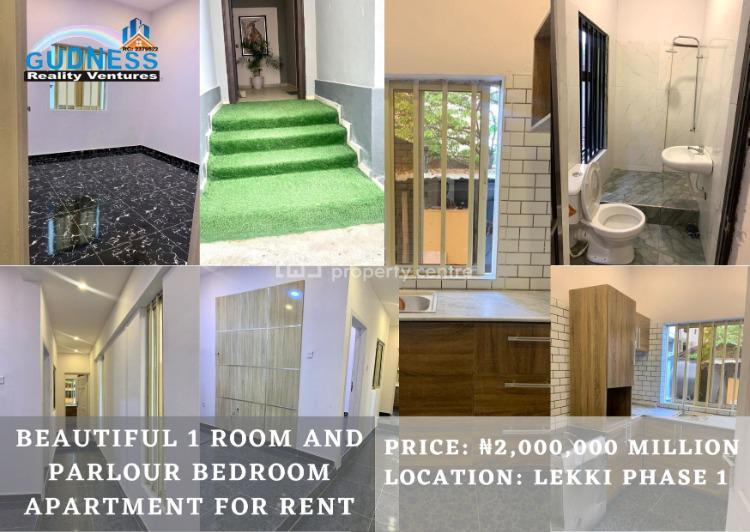 Beautiful 1 Room and Parlour Bedroom Apartment, Lekki Phase 1, Lekki, Lagos, Flat for Rent