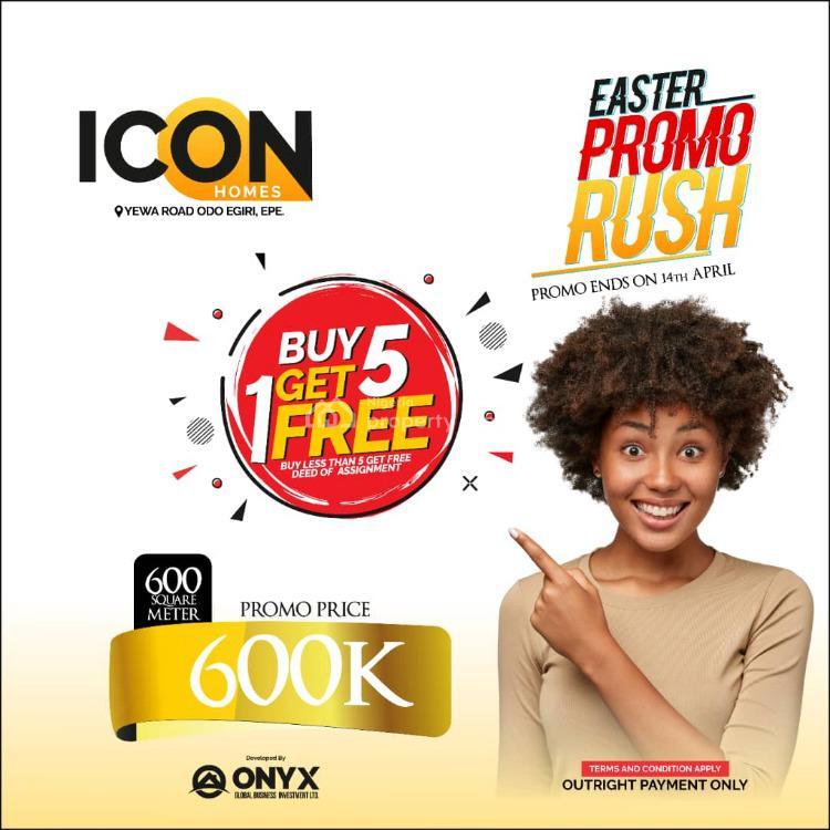 Icon Homes, Yewa Road, Odo Egiri, Epe, Lagos, Residential Land for Sale