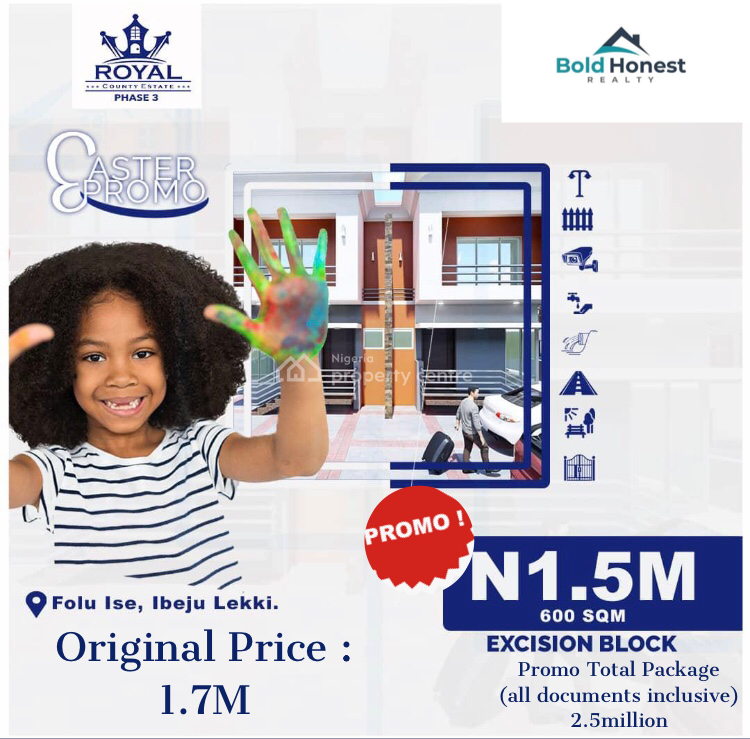 Buy and Build Property, Folu Ise Junction, 5 Mins to La Campagne Tropicana Beach, Ibeju Lekki, Lagos, Residential Land for Sale
