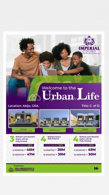 Luxury 3 Bedrooms Semi Detached Duplex with Bq, Imperial Courts, Abijo Gra, Lekki, Lagos, Semi-detached Duplex for Sale