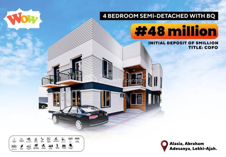 4 Bedroom Semi Detached Duplex with Bq, Alasia, Abraham Adesanya, Ajah, Lagos, Semi-detached Duplex for Sale