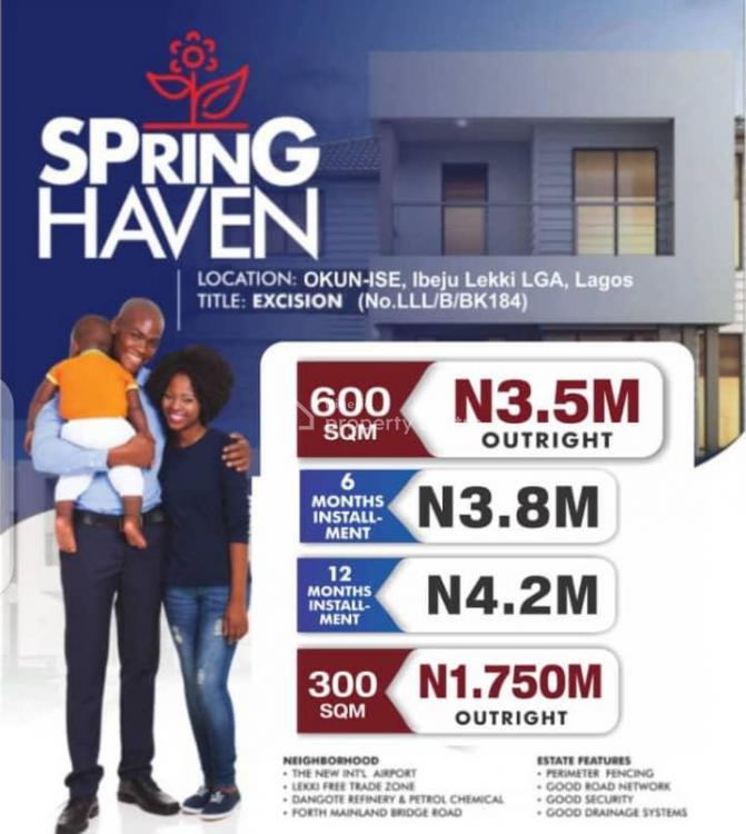 Land, Spring Heaven, Okun-ise, Ibeju Lekki, Lagos, Mixed-use Land for Sale