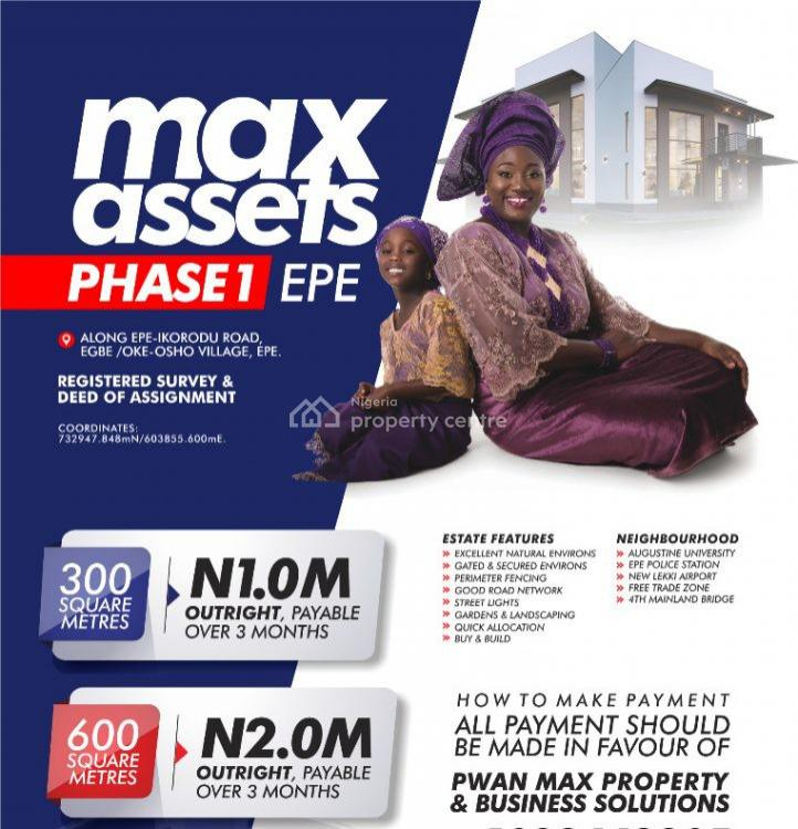 Land ( Registered Survey and Deed of Assignments), Ikorodu Road, Epe, Lagos, Residential Land for Sale
