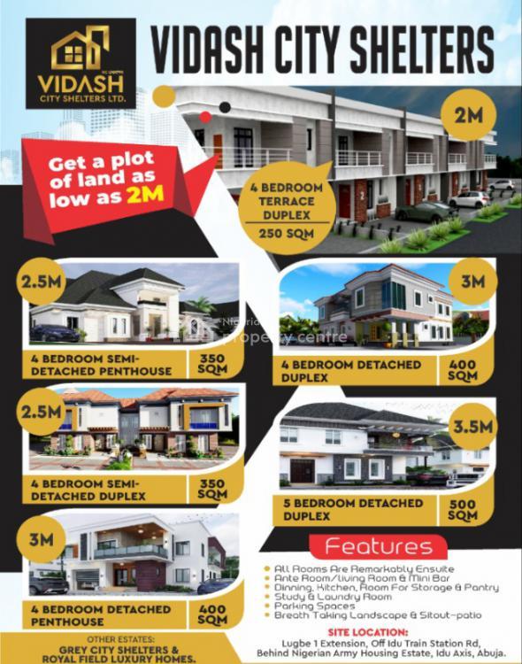 Mega Promo Idu Vidash Sharing Fence with Army Estate, Vidash Shelters, Idu Industrial, Abuja, Residential Land for Sale