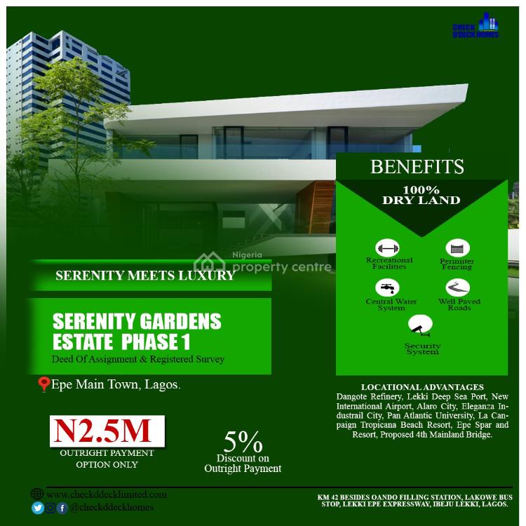 Affordable Dry Land, Serenity Gardens Estate Phase 1, Odoegiri, Epe, Lagos, Residential Land for Sale