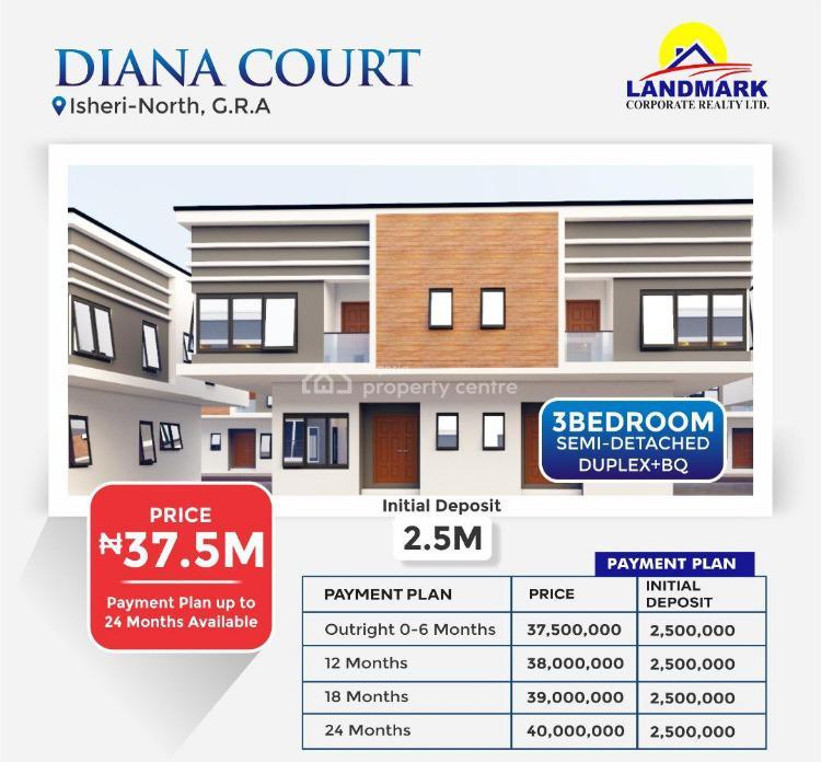 3 Bedroom Semi-detached Duplex with Bq, De Avocado Luxury & Smart Homes, Abijo, Lekki, Lagos, Semi-detached Duplex for Sale