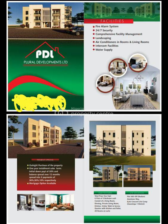 3 Bedroom Flat with Bq with Flexible Payment Plan, Plural Development Ltd, Life Camp, Abuja, Block of Flats for Sale