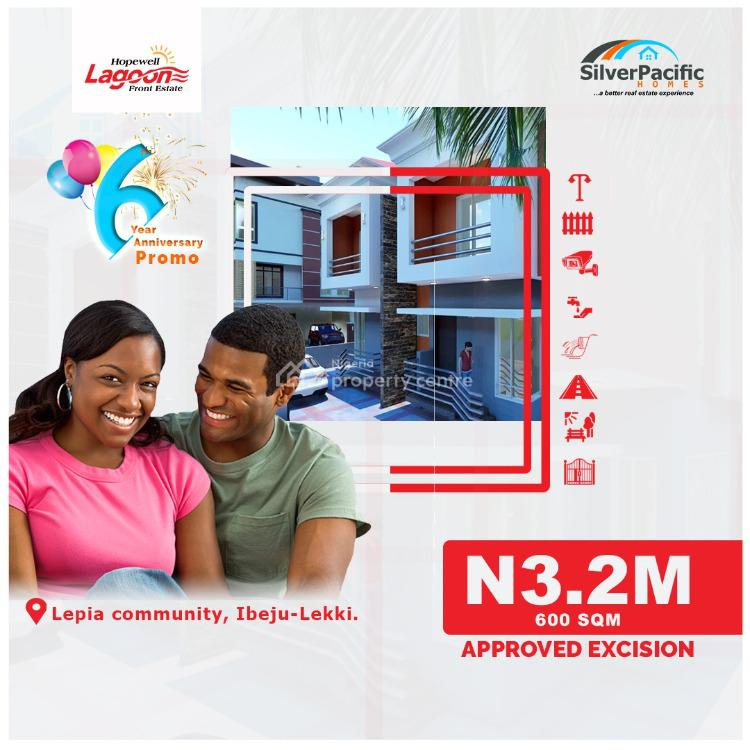Hopewell Lagoon Front Estate with Aproved Excision, Surrounded By Lagoon, 2 Minutes to Expressway, Seaport Area, Ibeju Lekki, Lagos, Mixed-use Land for Sale