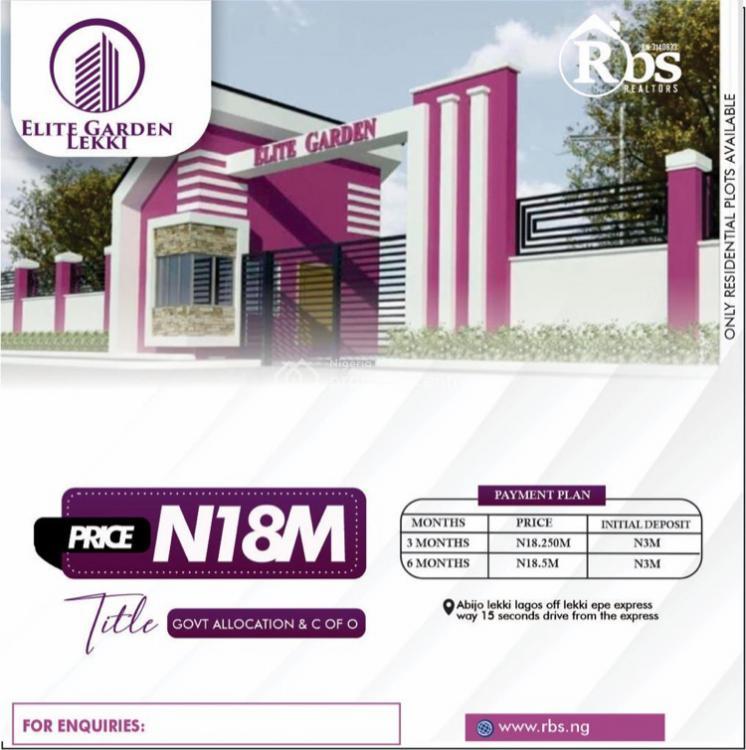 Elite Garden, Corona School, Abijo, Lekki, Lagos, Mixed-use Land for Sale
