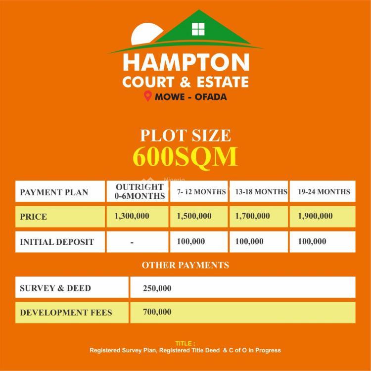 100% Dry Land, Eden View Estate, Folu Ise, Ibeju Lekki, Lagos, Land for Sale