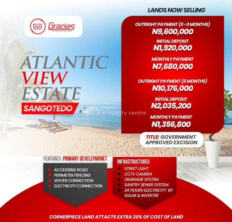 Beachfront Property, Off Monastery Road, Sangotedo- Ajah, Sangotedo, Ajah, Lagos, Land for Sale