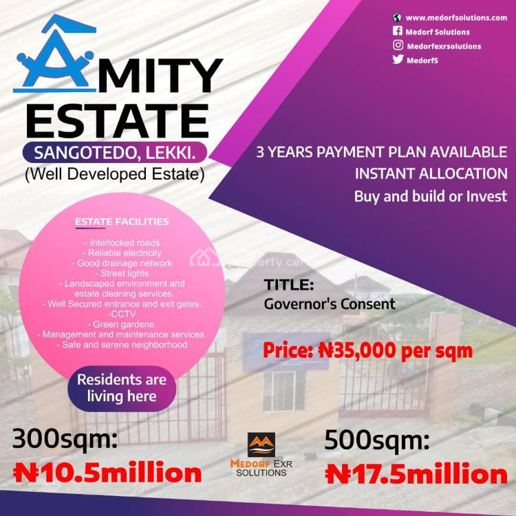 Estate Buy and Build Dry Land + 36months Flexible Payment, Amity Estate, Sangotedo, Ajah, Lagos, Residential Land for Sale