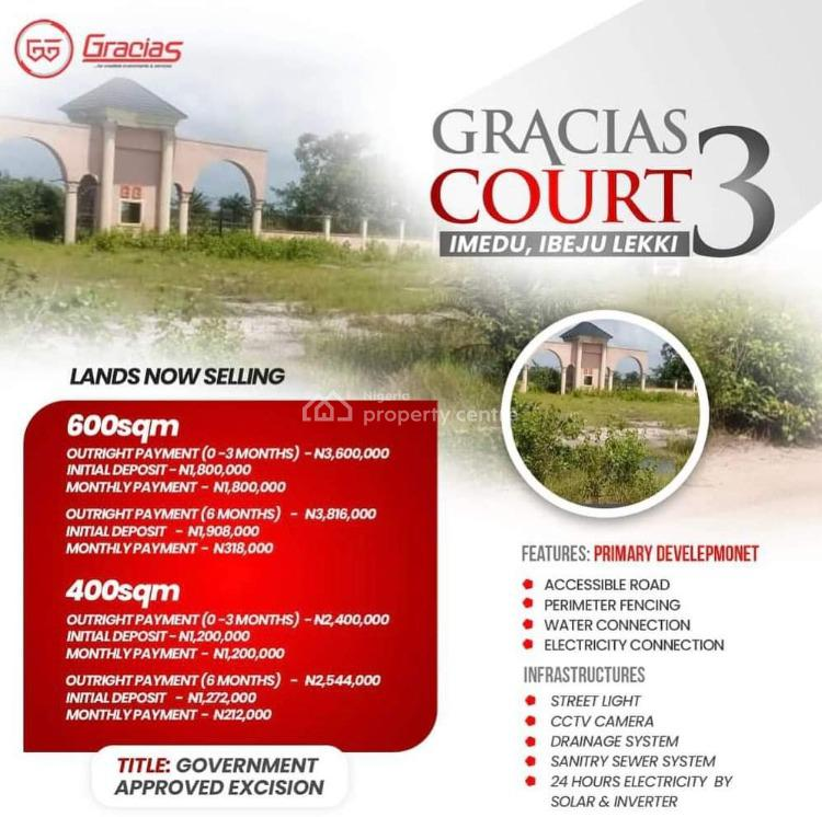 Land, Gracias Court3 Imedu, Ibeju Lekki, Lagos, Residential Land for Sale