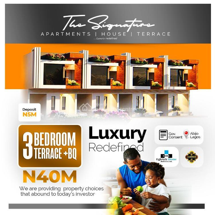 Luxury 5 Bedroom Terrace Duplex with Excellent Facilities, Abijo, Lekki, Lagos, Terraced Duplex for Sale