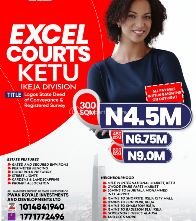 100% Dry Land Close to Owode Spares Part, Excel Court, Ketu, Lagos, Mixed-use Land for Sale