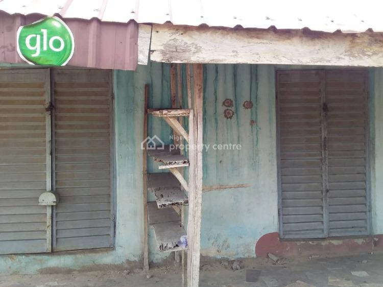 a Plot of Land with Two Bedroom Flat with 2 Shop in Front Fence Around, Eteko Phase One, Badagry, Lagos, House for Sale