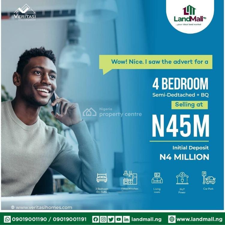 4 Bedroom Semi-detached Duplex with Bq, Abijo, Abijo, Lekki, Lagos, Semi-detached Duplex for Sale