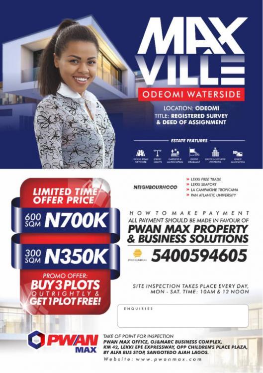 Max Ville, Ode Omi, Ibeju Lekki, Lagos, Mixed-use Land for Sale