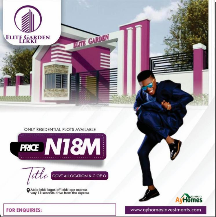 Complete Dry Land, a Build and Pack in, Elite Garden, Abijo, Lekki, Lagos, Residential Land for Sale