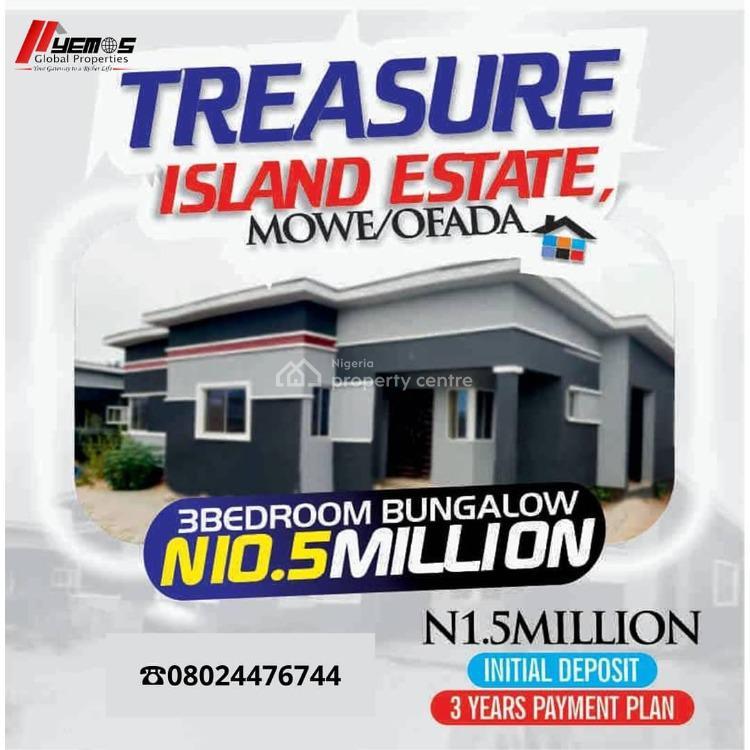 3 Bedroom Bungalow, Mowe-ofada, Mowe Ofada, Ogun, Detached Bungalow for Sale