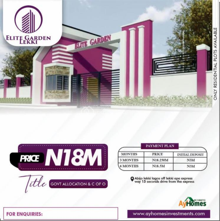 Government Allocation, Abijo Lekki,elite Garden., Abijo, Lekki, Lagos, Land for Sale