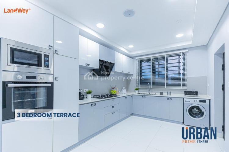 Luxurious 3 Bedroom Terrace with Bq, Abraham Adesanya, Lekki Phase 2, Lekki, Lagos, Terraced Duplex for Sale