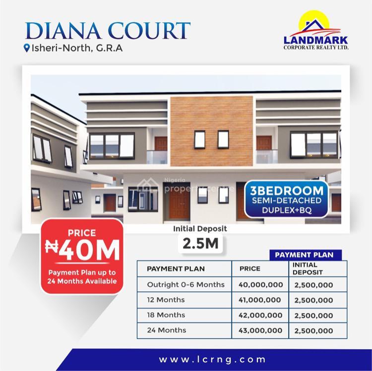 3 Bedroom Semi Detached Duplex Plus Bq, Isheri North, Lagos, Semi-detached Duplex for Sale