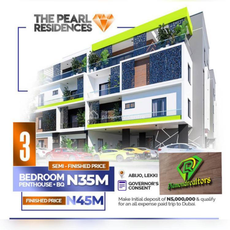 3 Bedroom Penthouse +bq, Abijo, Lekki, Lagos, Terraced Duplex for Sale