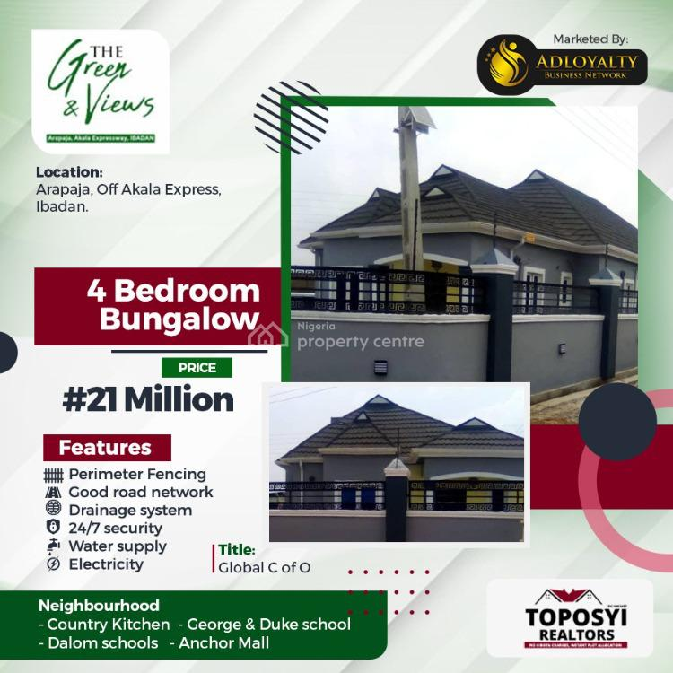 4 Bedrooms Bungalow Luxury in The City, Arapaja, Off Akala Express, Ibadan, Oyo, Flat / Apartment for Sale