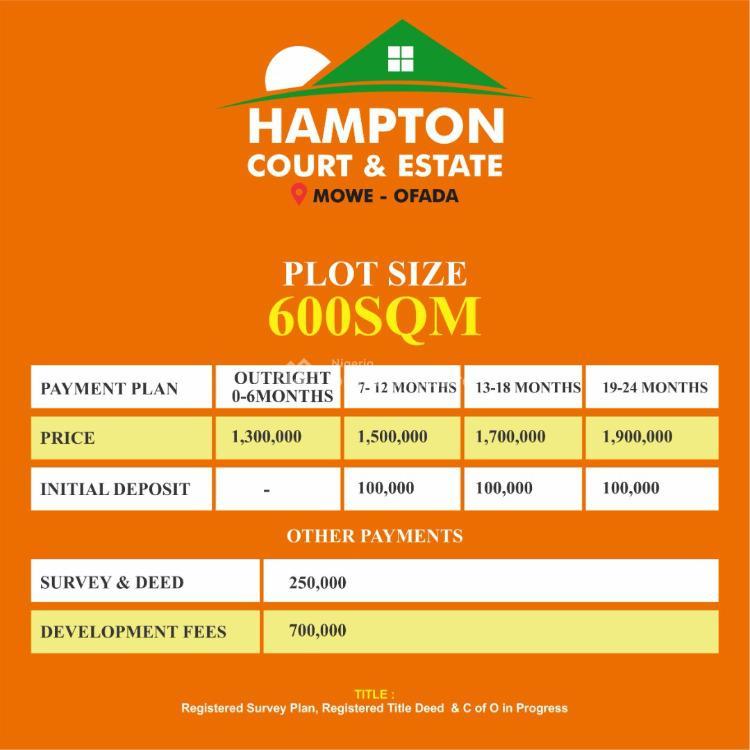 Land, Hampton Court, Mowe Ofada, Ogun, Residential Land for Sale