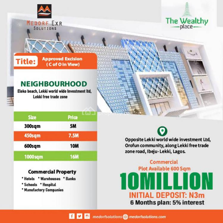 Land, The Wealthy Place, Ibeju Lekki, Lagos, Residential Land for Sale