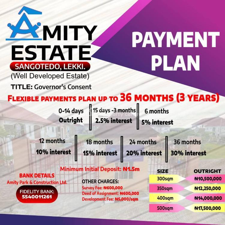 Land, Amity Estate, Sangotedo, Ajah, Lagos, Residential Land for Sale