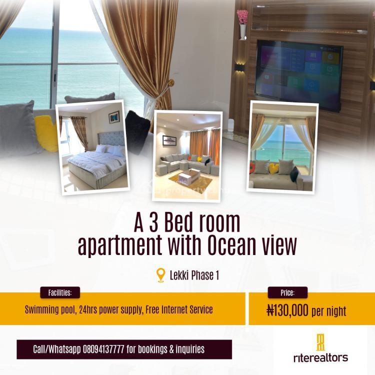 3 Bedroom with Beach View, Oniru, Lekki, Lagos, Flat / Apartment Short Let