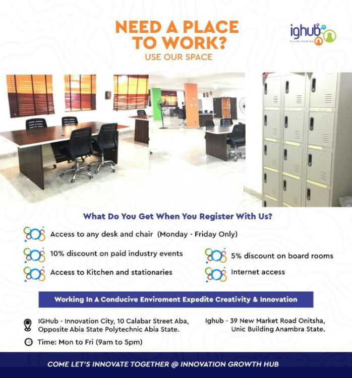 Business / Tech Work Space, 10, Calaba Street, Opposite Abia Polytechnic, Aba, Abia, Conference / Meeting / Training Room for Rent