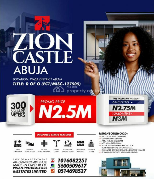 Affordable Plots of Land, Zion Castle Estate Along The New Apo-karshi Road, Wasa, Apo, Abuja, Mixed-use Land for Sale