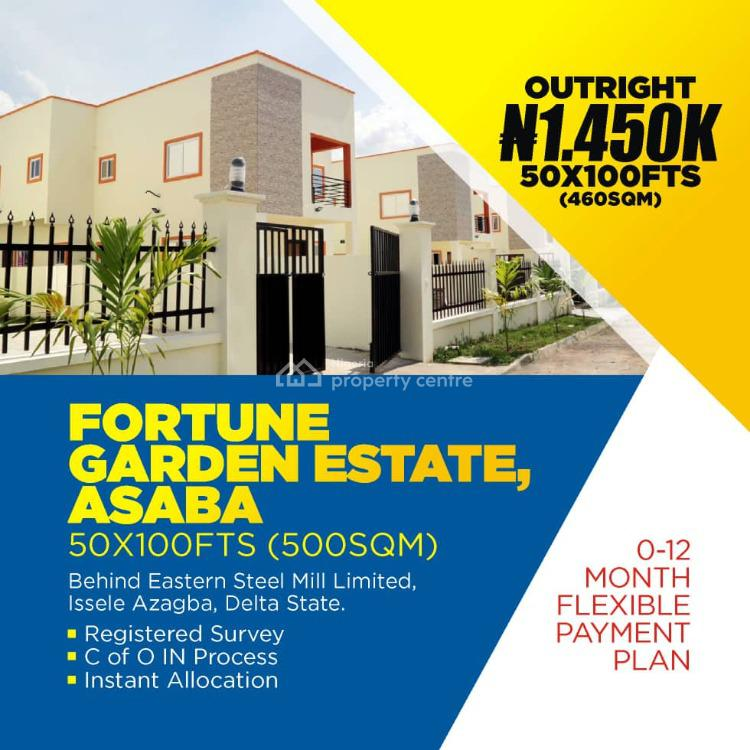 Fortune Garden Estate, Issele-azagba/otulu Road, Along Benin Asaba Express Road, Asaba, Delta, Residential Land for Sale