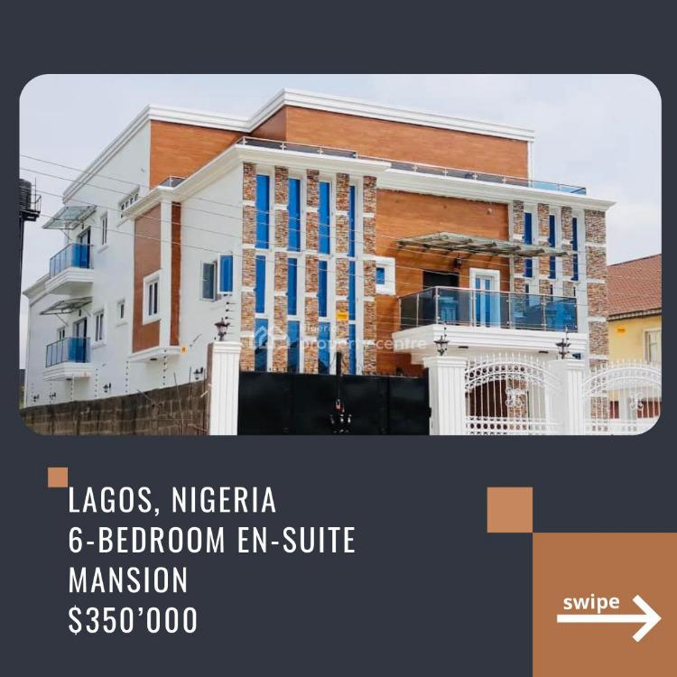 Fully Furnished 6 Bedroom Detached House with, Bq, Study, Gym, Opic Estate Isheri Gra, Opic, Isheri North, Lagos, Detached Duplex for Sale