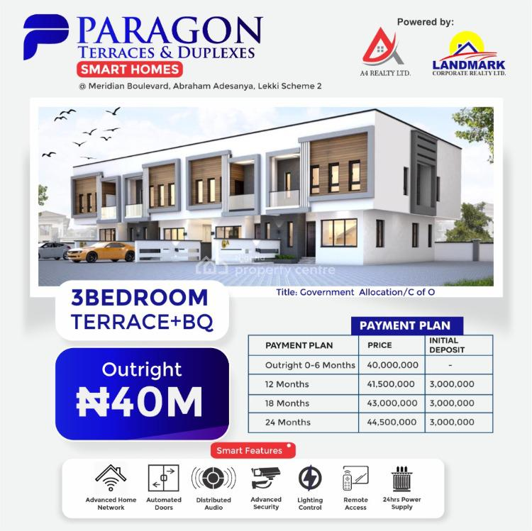 3 Bedrooms Terraced Duplex Smart Home with 24 Months Payment Plan, Abraham Adesanya, Few Minutes From The Expressway, Okun-ajah, Ajah, Lagos, Terraced Duplex for Sale