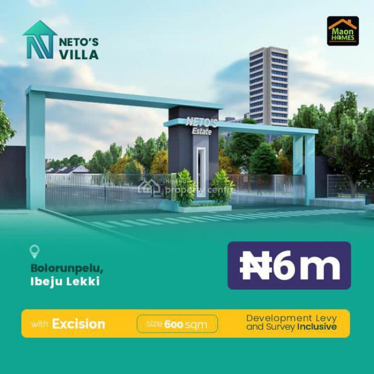 Netos Villa, Bolorunpelu, Ibeju, Lagos, Residential Land for Sale