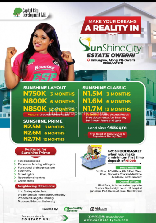 Land, Ipo Sunshine City Estate, Port Harcourt, Rivers, Residential Land for Sale