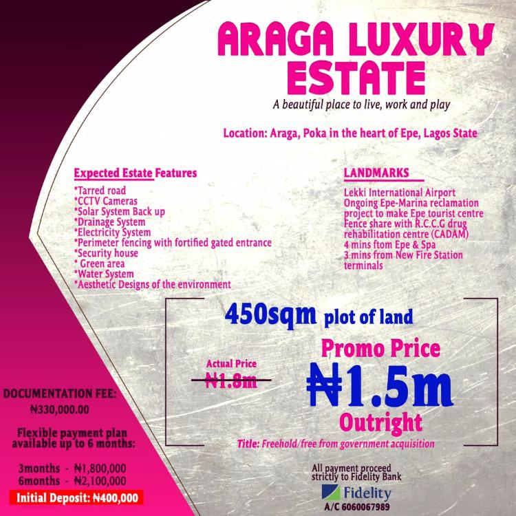 Fast Selling Araga Luxury Estate, Epe, Lagos, Residential Land for Sale