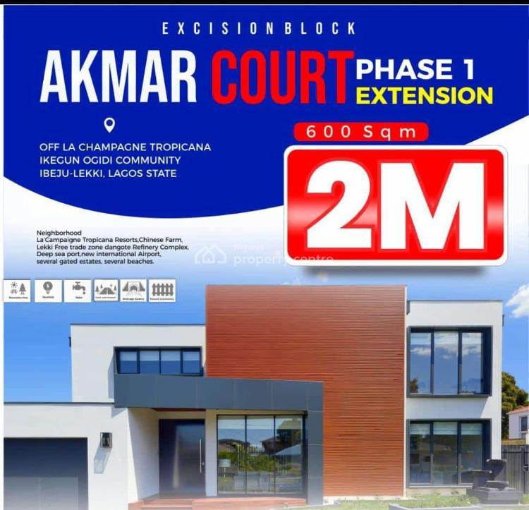Land, Akmar Court Phase 1, Folu Ise, Ibeju Lekki, Lagos, Residential Land for Sale