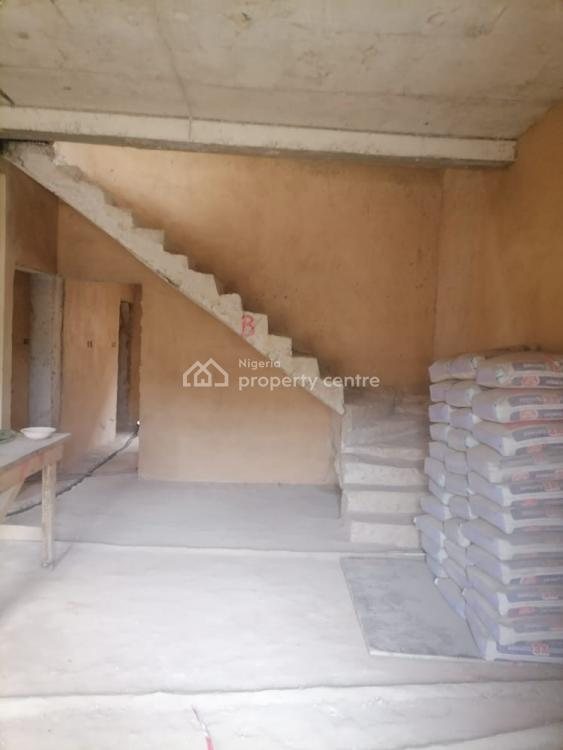 Carcass 3 Bedroom Semi Detached Duplex Available, Tejuosho, Yaba, Lagos, Semi-detached Duplex for Sale