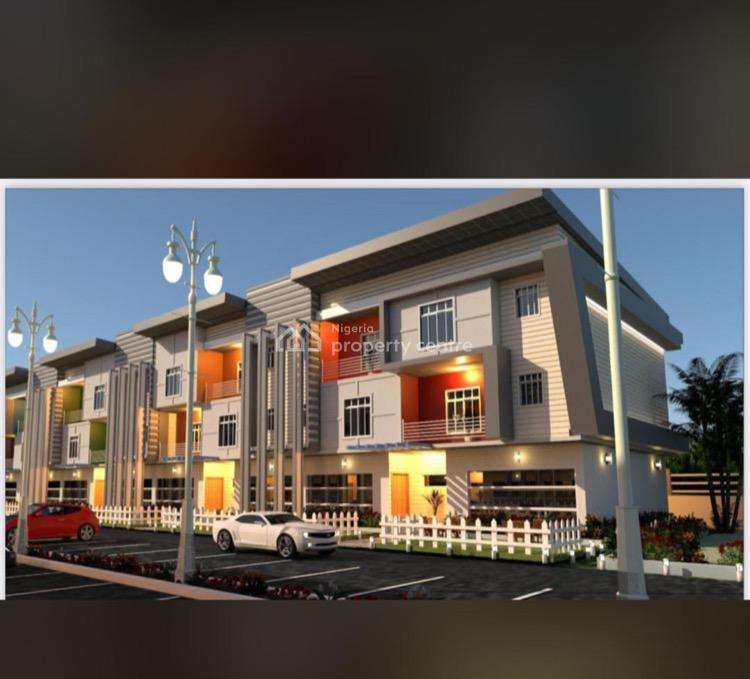 Contemporary 5 Bedrooms Terraced Duplex with Built-in Bq, Life Camp, Abuja, Terraced Duplex for Sale