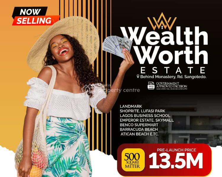 Wealthworth Estate, By Novare Shoprite, Sangotedo, Ajah, Lagos, Residential Land for Sale